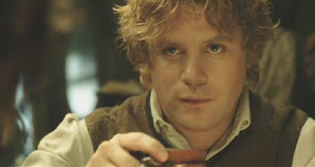 Samwise doesn't need liquid courage.